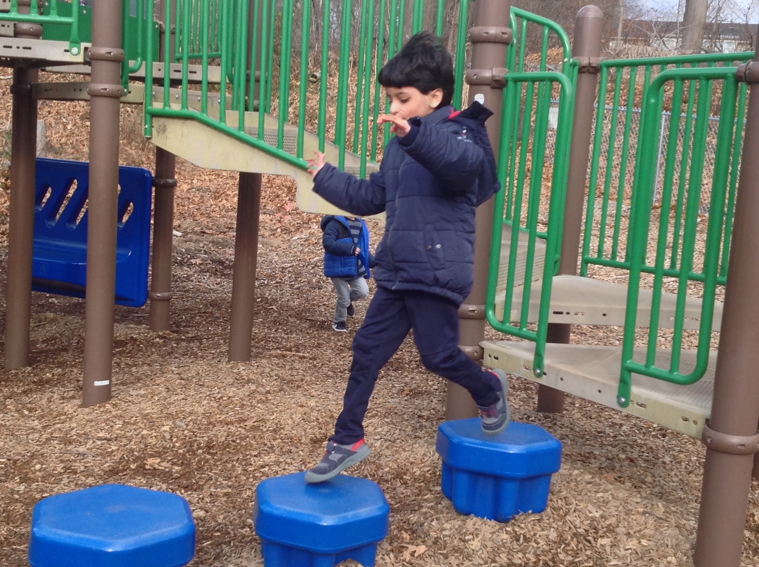 Student  at recess on playground.