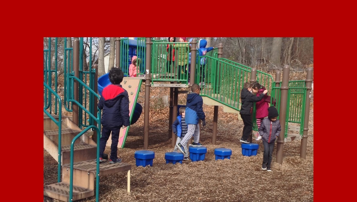 Students at recess on playground.